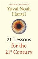 21 Lessons for the 21st Century | 9781787330870 | Harari. Yuval Noah